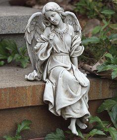 Loving this Thoughtful Angel Garden Statue on #zulily! #zulilyfinds