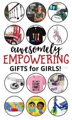 """Awesomely Empowering Gifts for Girls - A B-Inspired Mama Gift Guide perfect for you if you have a daughter who isn't into the """"girls"""" toy aisle. Or if you'd rather skip those gender-stereotyped toys and gifts altogether. Or if you're set on raising a little feminist! You'll love these girl gifts! #gifts #shopping #giftguide #christmas #kbn #kbnmoms #binspiredmama #feminist #girlpower  via @binspiredmama"""