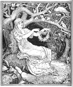 Prince Narcissus and the Princess - The Green Fairy Book by Andrew Lang, 1892