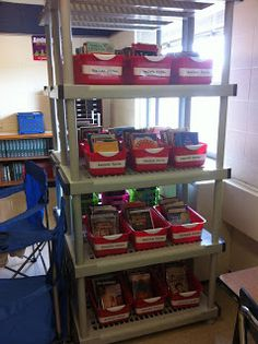 Check out this blog post with pictures of our classroom library revamp!  Great ideas for middle school classroom library organization.