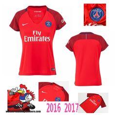 Vente Nouveau Maillot Football Paris Saint-Germain Rouge Femme Exterieur…