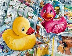 Rubber Duckies: Terrece Beesley: Giclee Print - Artful Home