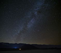 Milky Way Above Cinder Cone Dry Lake Bed, Rose Valley, Eastern Sierra