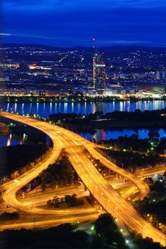 A view from Vienna Donauturm (Danube Tower)