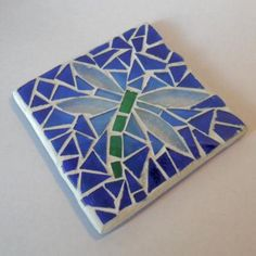 Dragonfly Mosaic Coaster by Raven's Stained Glass