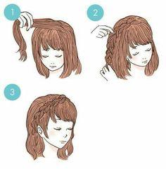 Side Braid is part of braids - Side Braid Side Braid Side Braid Hairstyles, Braided Hairstyles, Cute Simple Hairstyles, Hairstyles For Short Hair Easy, Hair Arrange, Anime Hair, Hair Dos, Hair Designs, Hair Hacks