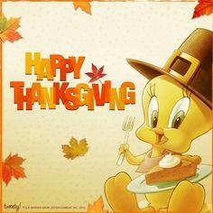 Tweety Bird Happy Thanksgiving