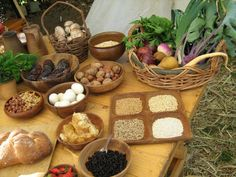 viking food display from Viking Culture Day Gold Coast