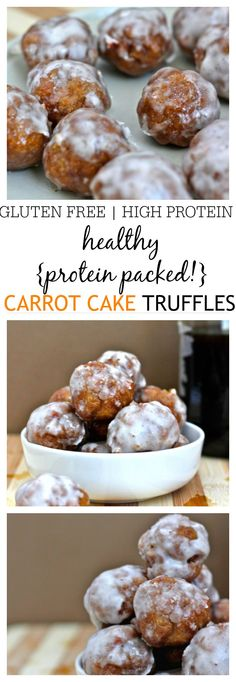 Healthy Carrot Cake Truffles Recipe which are easy to whip up and the perfect snack or healthy dessert- I always keep a batch on hand! {vegan, gluten free, low sugar}