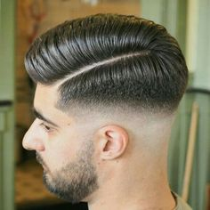 haircut with lines on side - Innovative Haircut with Line On Side, B Over with Line How to for Distinctive Haircut with Line On Side Trendy Haircut, Fade Haircut Styles, Cool Haircuts, Hair And Beard Styles, Haircuts For Men, Curly Hair Styles, Side Part Hairstyles, Undercut Hairstyles, Cool Hairstyles