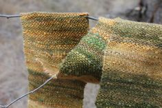 Handwoven Handspun Handpainted Okanogan Targhee wool and Mohair scarf - beautiful!  by peacfulmtnhandspun on etsy