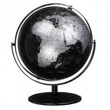 John Lewis Black and Silver Globe - Black And Silver Bedroom, Garden Globes, Black N White Images, Shabby Cottage, Living Room Grey, Inspirational Gifts, Home Accessories, Interior Decorating, Bedroom Decor