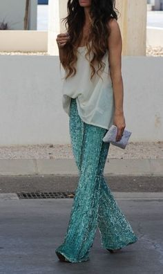 6th July 2013 ( Chiffon Tulle Shirts & Blouses & Sequins Pants )  - for more inspiration visit http://pinterest.com/franpestel/boards/