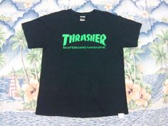 Sale !!! Thrasher Skateboard Magazine activewear Tshirt Skate Hip hop Surf style