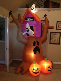 Prototype Gemmy Haunted Ghost Tree House Halloween Inflatable Airblown