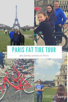 Booking a Paris Bike Tour is a perfect family activity. Check out this Fat Tire Tours Review and the details of bike tours in Paris. via @everydaysavvy
