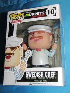 Funko POP Disney Muppets SWEDISH CHEF 10 Brand New Retired Free POP Protector