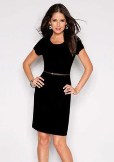 Šaty s krátkými rukávy #ModinoCZ #fashion #dress #elegance #black #littleblackdress #saty #moda #cerna #klasika