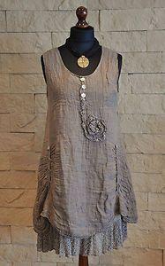 Sarah Santos Lagenlook Tunic 100 Linen Mocha Size Avaiable S | eBay