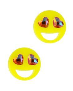 Emoji Earrings, Emoji Love, Eyes Emoji, Quirky Fashion, Heart Eyes, Emoticon, Studs, Online Clothes, Cute