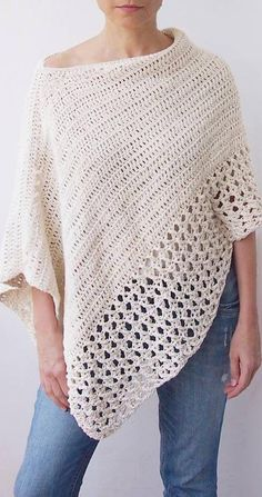 Easy Free Crochet Poncho Patterns Ideas for Women Crochet Projects 2019 - Page 30 of 34 - hairstylesofwomens. com patterns for women Easy Free Crochet Poncho Patterns Ideas for Women Crochet Projects 2019 - Page 30 of 34 - hairstylesofwomens. Crochet Scarves, Crochet Clothes, Knit Crochet, Crochet Sweaters, Crochet Dresses, Crochet Woman, Crochet Tops, Easy Crochet Shawl, Crochet Vests