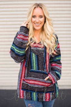 Woven Baja Hoodie Sweatshirt in Darks