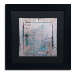 """Trademark Art """"Framed Out"""" by Nicole Dietz Framed Graphic Art Size: 11"""" H x 11"""" W x 0.5"""" D, Matte Color: Black"""
