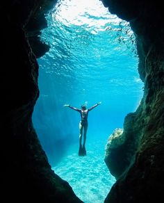 Diving at the sea caves of  Karpathos island Dodecanese