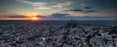 Paris sunset from the Montparnasse tower