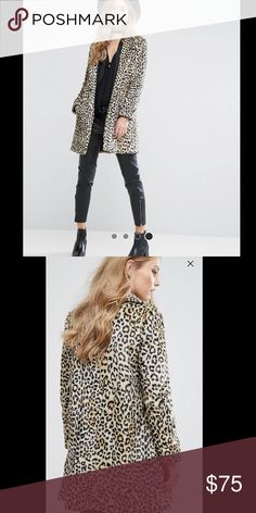 ASOS Faux Fur Leopard Coat Size Small. Worn once. ASOS Jackets & Coats