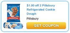 $1.00 off 2 Pillsbury Refrigerated Cookie Dough