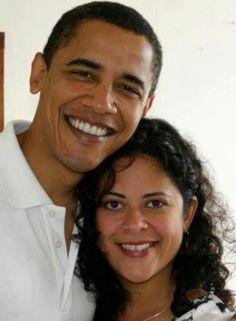 President Obama & his sister