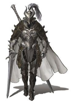 [게임미술관] 검은사막 '다크나이트'의 아버지, 오윤택 팀장이 말하는 게임 원화의 매력 : 네이버 포스트 Fantasy Concept Art, Fantasy Character Design, Fantasy Armor, Fantasy Weapons, Dark Fantasy Art, Anime Fantasy, Character Concept, Character Art, Medieval Armor