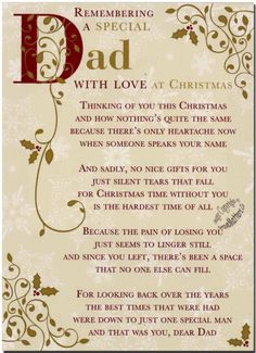 Christmas Grave Card - Special Dad - FREE Holder-C110
