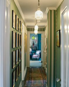 Kate and Andy Spade's hallway