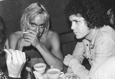 Iggy Pop and Lou Reed photographed by Danny Fields, 1973
