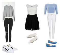 """""""Outfits for weekends"""" by riapatelx ❤ liked on Polyvore featuring Topshop, Burberry, adidas and Talbots"""