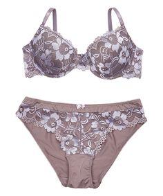 Take a look at this René Rofé Gray Make Me Yours Demi Bra & Bikini today!