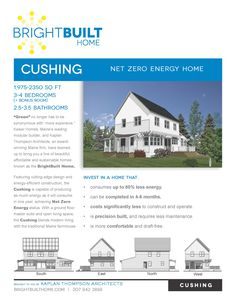 Cushing Model Affordable Net Zero Homes www.brightbuilthome.com