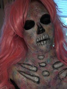 Watercolor glitter skeleton  Makeup by me Skeleton Makeup, Horror Makeup, Halloween Face Makeup, Glitter, Watercolor, Pen And Wash, Watercolor Painting, Watercolour, Scary Makeup