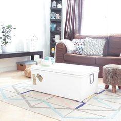 Une malle en guise de table basse, living room, deco #madecoamoi @dreasire