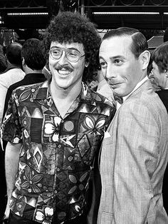 Al Yankovic and Paul Reubens at the Purple Rain premiere, 1984... WEIRD AL AND PEE WEE TOGETHER!!!!