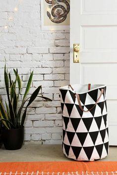 Häuschen und Wohnideen wäschekorb aus stoff selber nähen schwarz weiß