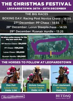 There is always plenty of horse racing action around Christmas. This is an infographic created for BETDAQ and the Christmas Festival at Leopardstown