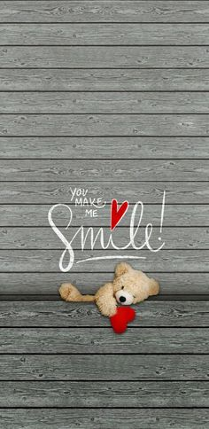 You make me smile wallpaper Smile Wallpaper, Bear Wallpaper, Emoji Wallpaper, Flower Wallpaper, Disney Wallpaper, Wallpaper Quotes, Wallpaper Backgrounds, Iphone Backgrounds, Cute Love Wallpapers