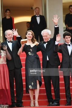 Jean-Pierre Dardenne, Adele Haenel, Luc Dardenne and Louka Minnella attend 'The Unknown Girl (La Fille Inconnue)' Premiere during the 69th annual Cannes Film Festival at the Palais des Festivals on May 18, 2016 in Cannes, France.