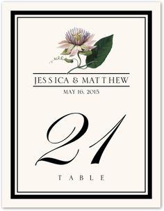 Lotus (lavender) Wedding Table Number - $2.75 each