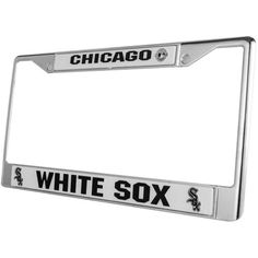Rico Industries Chicago White Sox License Plate Frame ($15) ❤ liked on Polyvore featuring team color