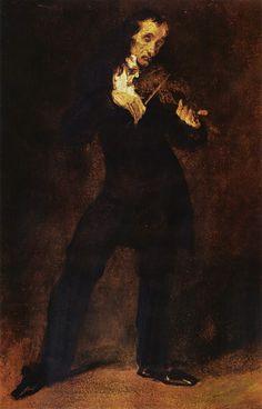 Paganini,Eugene Delacroix italský houslista, kytarista a hudební skladatel.