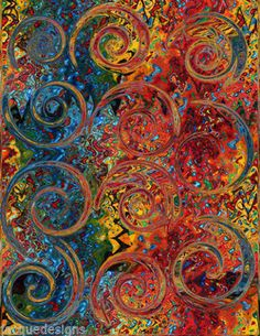 Textile Artist Made Decor Fabric Panel Abstract Pattern Curly Q's Scrolls from jacquedesigns on Etsy. Fabric Panels, Fabric Art, Fabric Decor, Fabric Design, Circle Quilts, Textiles, Abstract Pattern, Abstract Art, Textile Artists